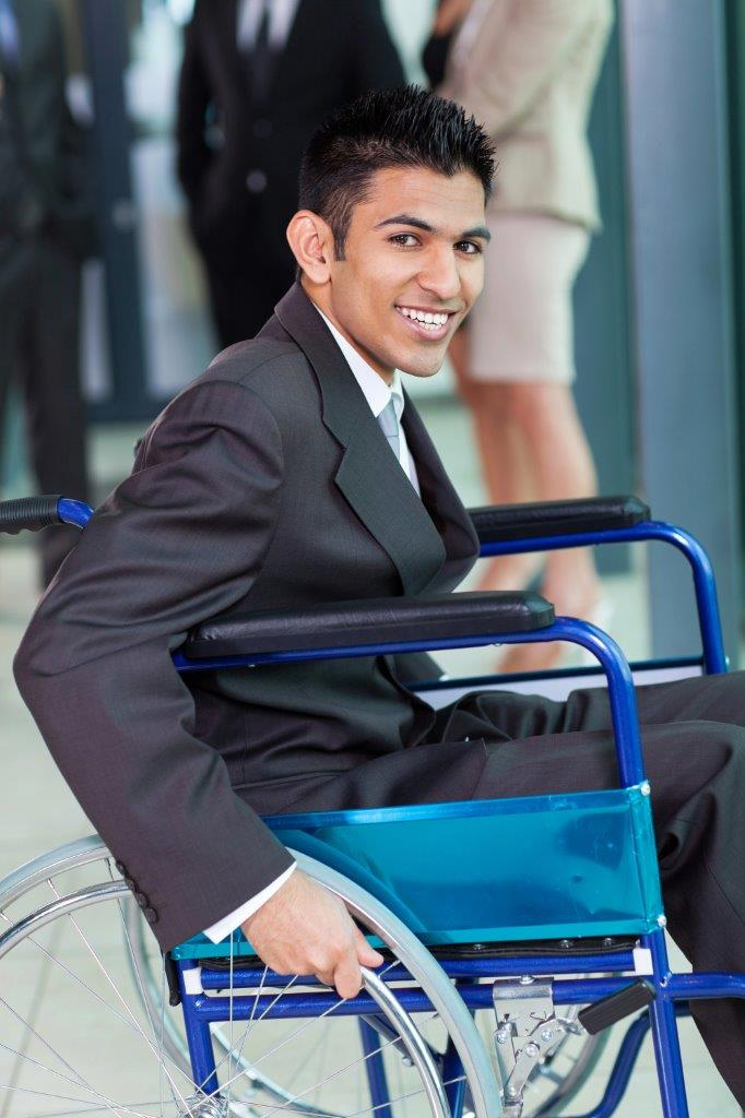 Man sitting on Wheel Chair
